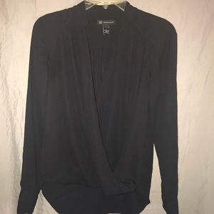 INC International Concepts Black Blouse